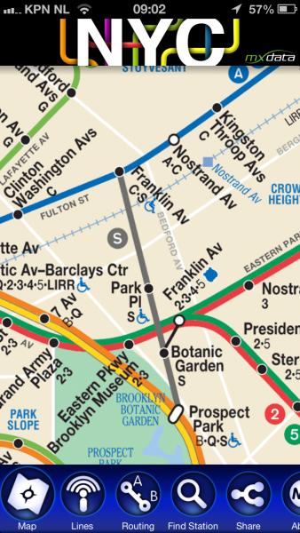 NYC subway app