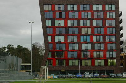 De hoogbouw op locatie Campagneplein